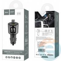 Автомобильное зарядное устройство + Bluetooth FM трансмиттер HOCO E19