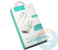Сетевой адаптер HOCO C11 ONE USB Charger + кабель Lightning белый