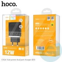 Сетевой адаптер HOCO C43A Fast power 2xUSB 2.4A чёрный