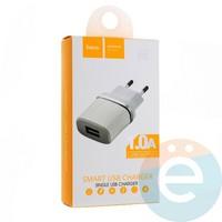Сетевой адаптер HOCO C11 ONE USB Charger белый