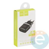 Сетевой адаптер HOCO C12 Dual USB Charger 2.4A чёрный