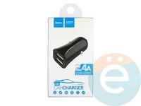 Автомобильное зарядное устройство HOCO Z12 2 USB 2.4A чёрное
