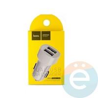 Автомобильное зарядное устройство HOCO Z2A 2 USB 2.4A белое