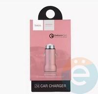 Автомобильное зарядное устройство HOCO Z4 1 USB 2.0A розовое