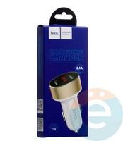 Автомобильное зарядное устройство HOCO Z26 2 USB 2.1A LSD белое