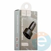 Автомобильное зарядное устройство HOCO Z9 2 USB 2.1A LSD чёрное