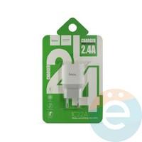 Сетевой адаптер HOCO C22A ONE USB Charger 2.4A белый