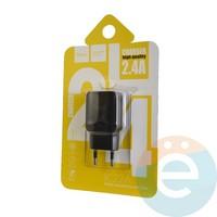 Сетевой адаптер HOCO C22A ONE USB Charger 2.4A чёрный
