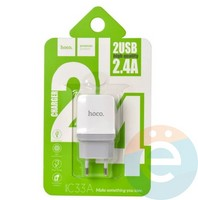 Сетевой адаптер HOCO C33A DUAL USB Charger 2.4A белый