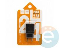 Сетевой адаптер HOCO C33A DUAL USB Charger 2.4A чёрный