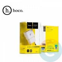 Сетевой адаптер HOCO H202 DUAL USB Charger 2.4A белый