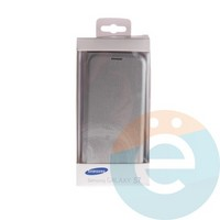 Чехол-книжка боковой на Samsung Galaxy S7 серебристый