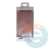Чехол-книжка боковой на Samsung Galaxy S7 Edge бронзовый