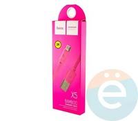 Usb Кабель HOCO X5 Bamboo на Micro розовый