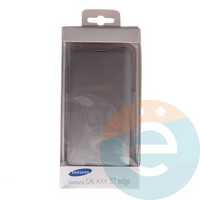 Чехол-книжка боковой на Samsung Galaxy S7 Edge серебристый