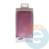 Чехол-книжка боковой на Samsung Galaxy S6 Edge розовый