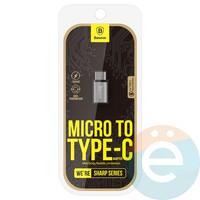 Переходник Baseus CATYPEC-DL0G с Micro USB на Type-C серый