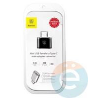 Переходник Baseus CATOTG-01 с USB-A на Type-C чёрный