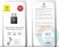 Переходник Baseus CAAOTG-01 с Type-C на USB-A чёрный