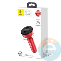 Автомобильное зарядное устройство Baseus CCALL-YT09 2USB 4.8A красное
