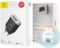 Сетевой адаптер Baseus CCALL-BH01 3USB 3.4A чёрный