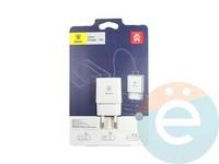 Сетевой адаптер Baseus CCALL-E2A02 1USB 2.1A белый