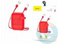Чехол силиконовый для AirPods Baseus TZARGS-09 красный