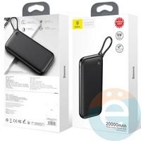 Дополнительный аккумулятор Baseus PPKC-A01 2USB 3.0 20000 m/Ah чёрный