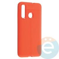 Накладка силиконовая 360 с кожаными вставками на Huawei Nova 4 красная
