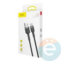 USB Кабель Baseus CAMKLF-BG1 на Micro USB 1м чёрно-серый
