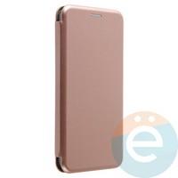 Чехол книжка боковой Fashion Case для Huawei Honor 8X розово-золотистый