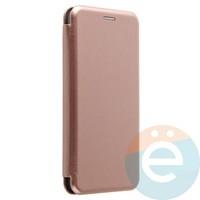 Чехол книжка боковой Fashion Case для Xiaomi Mi Note 3 розово-золотистый