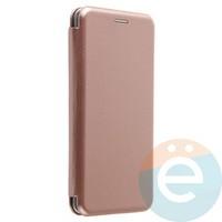 Чехол книжка боковой Fashion Case для Xiaomi Mi Mix 2 розово-золотистый