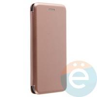 Чехол книжка боковой Fashion Case для Xiaomi Mi 6 розово-золотистый