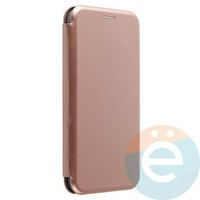 Чехол книжка боковой Fashion Case для iPhone Xs Max розово-золотистый