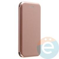 Чехол книжка боковой Fashion Case для iPhone 6/6s розово-золотистый