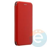 Чехол книжка боковой с силиконовой окантовкой для Huawei Honor 8C красный