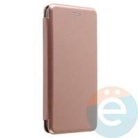 Чехол книжка боковой Fashion Case для Xiaomi Redmi 4x розово-золотистый