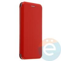Чехол книжка боковой с силиконовой окантовкой для Huawei Honor 9 Lite красный