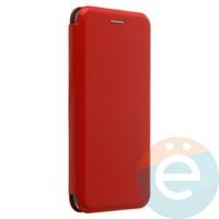 Чехол книжка боковой с силиконовой окантовкой для Huawei Honor 10 красный