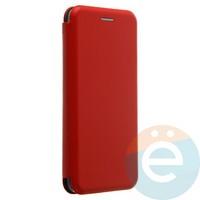 Чехол книжка боковой с силиконовой окантовкой для Huawei P20 красный