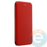 Чехол книжка боковой с силиконовой окантовкой для Huawei Nova 3 красный