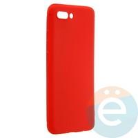 Накладка силиконовая Soft Touch ультра-тонкая на Huawei Honor 10 красная