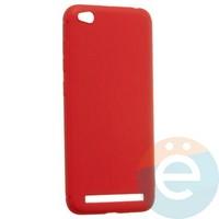 Накладка силиконовая Soft Touch ультратонкая для Xiaomi Redmi 5A красная
