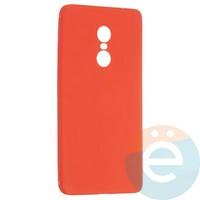 Накладка силиконовая Soft Touch ультратонкая на Xiaomi Redmi Note 4 красная