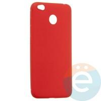 Накладка силиконовая Soft Touch ультратонкая на Xiaomi Redmi 4X красная
