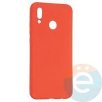 Накладка силиконовая Soft Touch ультра-тонкая на Huawei Honor 8 lite красная