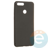 Накладка силиконовая Soft Touch ультра-тонкая на Huawei Honor 7X чёрная