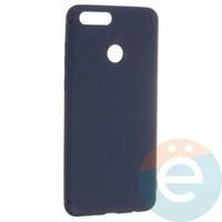 Накладка силиконовая Soft Touch ультра-тонкая на Huawei Honor 7X синяя