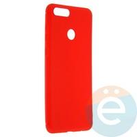 Накладка силиконовая Soft Touch ультра-тонкая на Huawei Honor 7X красная